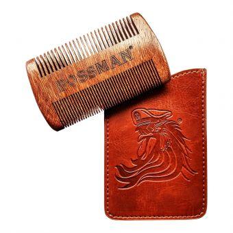 Bossman Pocket Sandalwood Beard and Moustache Comb