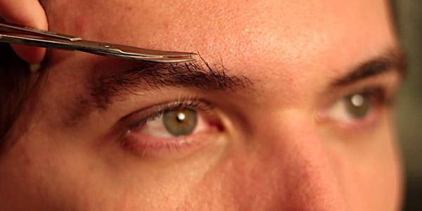 trim men eyebrow