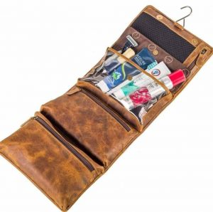Toiletry Bag - fold- leather